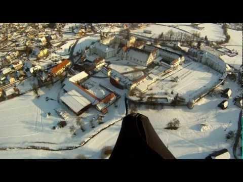 Prelep pogled na Samostan v Stični iz zraka